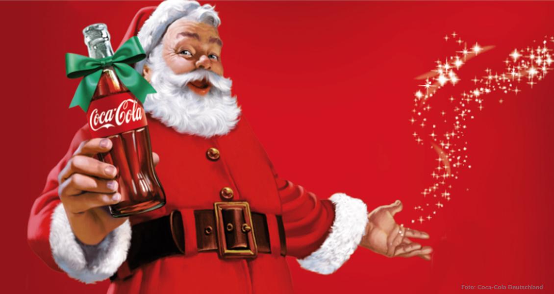 Der heutige Santa Claus als Werbefigur